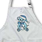 click on Christmas Cute Blue Teddy Bear with Santa hat to enlarge!