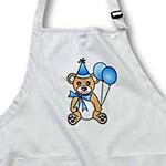 click on Birthday Cute Party Bear with Ballon Blue to enlarge!