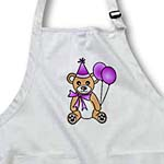 click on Birthday Cute Party Bear with Ballon Purple to enlarge!