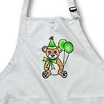 click on Birthday Cute Party Bear with Ballon Green to enlarge!