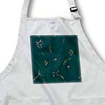 click on Teal with Gold Glitter Paint Fabric Print to enlarge!