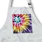 click on Tie Dye Purple starburst tie dye design in purple yellow and red to enlarge!