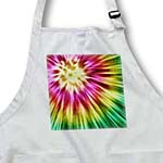click on Tie Dye Green starburst tie dye design in green yellow and red to enlarge!