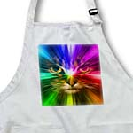 click on Domestic Cat Surrounded With A Rainbow Of Colors to enlarge!