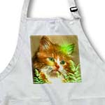 click on Domestic Orange Kitten With Ferns And Stars to enlarge!