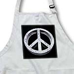 click on Peace Pass It On a rough and worn metal three dimensional peace sign to enlarge!