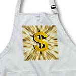 click on Dollar Sign features a large golden dollar sign with bursting graphic design effects to enlarge!