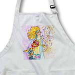 click on Fairy blonde whimsical glitter glitter fairy cat wings joyful illustration watercolor to enlarge!