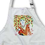 click on Woman tree cheeries cherry tree parrot woman tree leaves branches watercolor to enlarge!