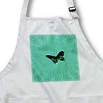 click on Butterfly On Green Blue Textile Pattern to enlarge!