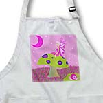 click on Cute Fairy Princess Girl on Toadstool with Snail Pink to enlarge!