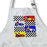 click on Boy Stuff Blue Red Yellow Racecars Checkered Flag Design to enlarge!