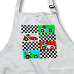 click on Boy Stuff Blue Red Green Racecars Checkered Flag Design to enlarge!