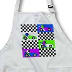 click on Boy Stuff Blue Purple Green Racecars Checkered Flag Design to enlarge!