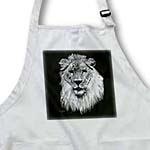click on Digital Painting of a lion in white over black  to enlarge!