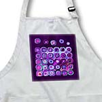 click on Abstract sci fi suns and planets in pink purple on purple background to enlarge!