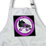 click on Derby Chicks Roll With It Purple and Black with Black Roller Skate to enlarge!