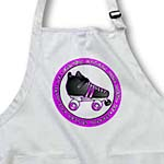 click on Derby Chicks Roll With It Purple and White with Black Roller Skate to enlarge!