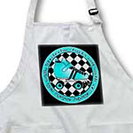 click on Derby Chicks Roll With It Aqua Blue Roller Skate and White to enlarge!