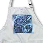 click on Close up scene of dreamy soft blue roses surrounded by a striped frame to enlarge!