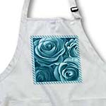 click on Close up scene of dreamy soft turquoise roses surrounded by a striped frame to enlarge!
