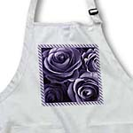 click on Close up scene of dreamy muted deep purple roses surrounded by a striped frame to enlarge!