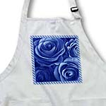 click on Close up scene of dreamy rich blue roses surrounded by a striped frame to enlarge!