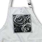 click on Close up scene of dreamy dark silver gray roses surrounded by a striped frame to enlarge!