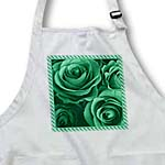click on Close up scene of dreamy soft green roses surrounded by a striped frame to enlarge!