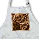 click on Close up scene of dreamy milk chocolate roses surrounded by a striped frame to enlarge!