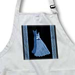 click on Denim blue gowns with coordinating damask ribbons to enlarge!