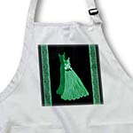 click on Muted Kelly green gowns with coordinating damask ribbons to enlarge!