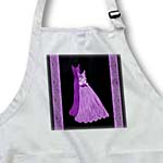 click on Lilac and royal purple gowns with coordinating damask ribbons to enlarge!