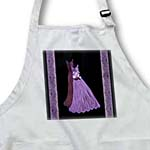 click on Lavender purple and plum gowns with coordinating damask ribbons to enlarge!