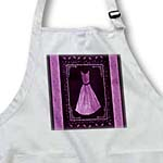 click on Plum purple design with dress and leaves and damask ribbons on eggplant purple background to enlarge!