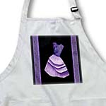click on Lilac and royal purple flowered top dress on black backround with damask ribbons to enlarge!