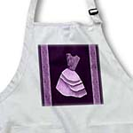 click on Plum purple flowered top dress on eggplant purple backround with damask ribbons to enlarge!