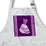 click on Lilac purple flowered top dress on eggplant purple backround with damask ribbons to enlarge!