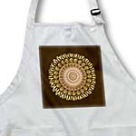 click on Gold and chocolate floral mandala on milk chocolate background to enlarge!