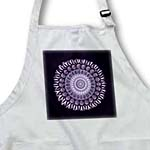 click on Rich purple floral mandala on black background to enlarge!