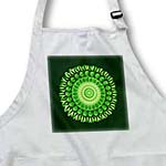 click on Bright green floral mandala on forest green background to enlarge!