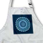 click on Cerulean blue floral mandala on french blue background to enlarge!