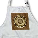 click on Chocolate and gold floral mandala on milk chocolate damask background to enlarge!