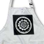 click on Silver and black fantasy mandala flower on black background to enlarge!