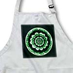 click on Forest green fantasy mandala flower on deep green background to enlarge!