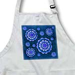 click on Dreamy blue fantasy mandala flower on rich blue damask background to enlarge!