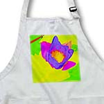 click on Decorative colorful garden botanic plant water lily purple green flower abstract modern bold to enlarge!
