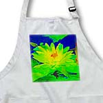 click on Decorative colorful garden botanic plant water lily green gold blue flower abstract  to enlarge!