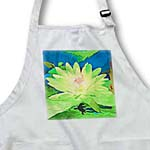 click on Decorative colorful garden botanic plant water lily green gold flower abstract pastel  to enlarge!