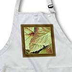 click on Gold and sienna metallic leaves with bark brown frame to enlarge!
